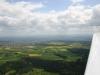 Kurz vor der Landung auf dem Wächtersberg