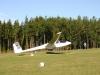 Landung kurz nach der Ziellinie