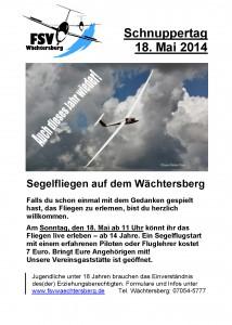 Schnuppertag Plakat 2014