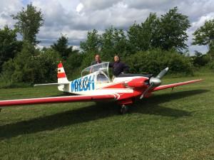 Karl-Heinz, nach Jahren der Teilhaberschaft nun endlich auch mal selber fliegen...