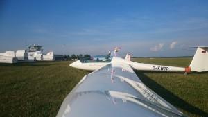 Duo nach dem 3.000 m Flug