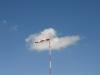 Der Wind kommt genau von Osten. Ideal für den Segelflugstart