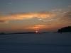 Welch ein tolles Gefühl. Landung bei Sonnenuntergang