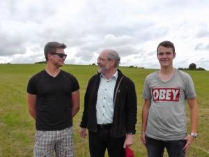 Jan, Wolfgang Schmalz und Bene