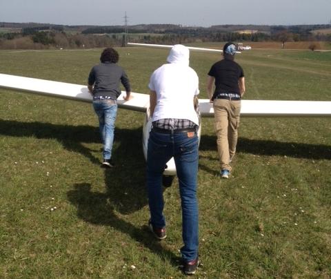 Modebewusste Flugschüler